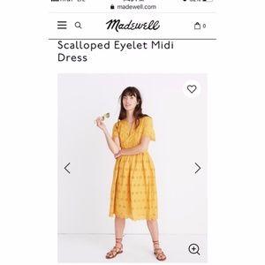 NWT Madewell Scalloped Eyelet Midi sun dress